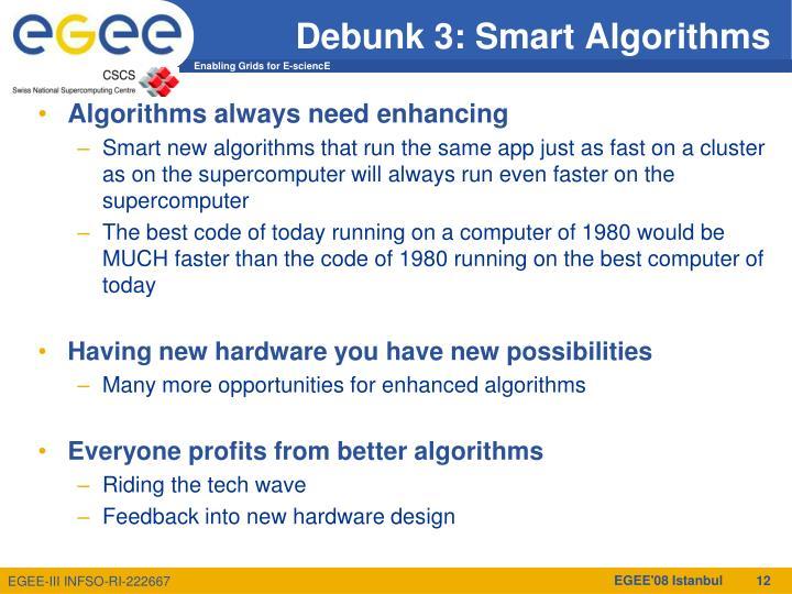 Debunk 3: Smart Algorithms