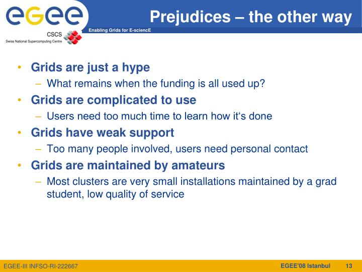 Prejudices – the other way