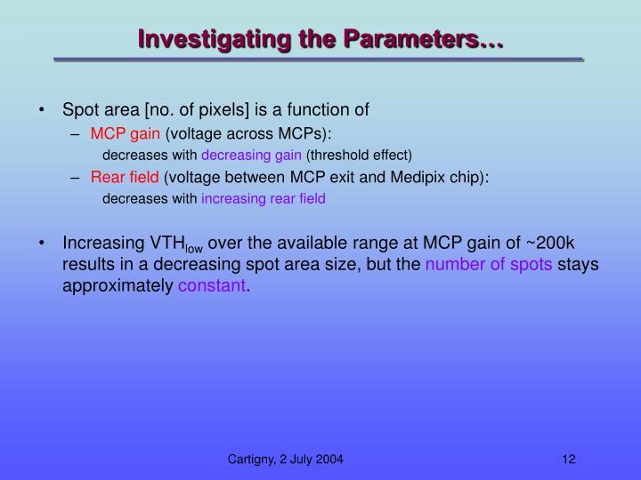 Investigating the Parameters…