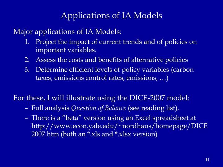 Applications of IA Models