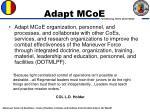 adapt mcoe