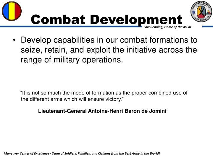 Combat Development