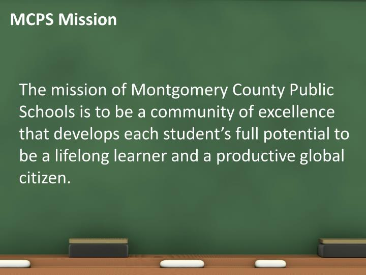 Mcps mission
