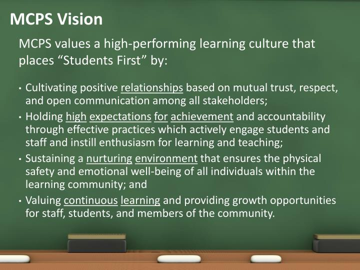 MCPS Vision