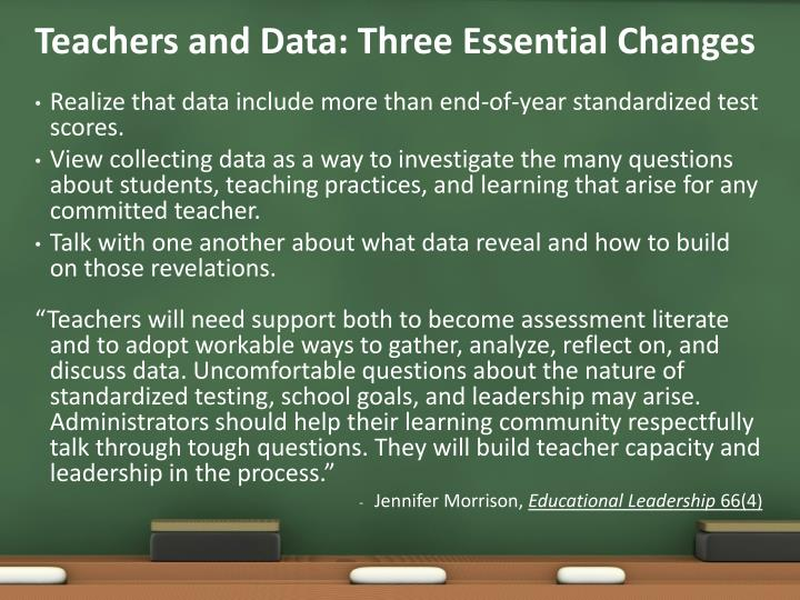 Teachers and Data: Three Essential Changes