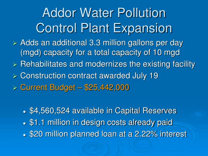 Addor Water Pollution