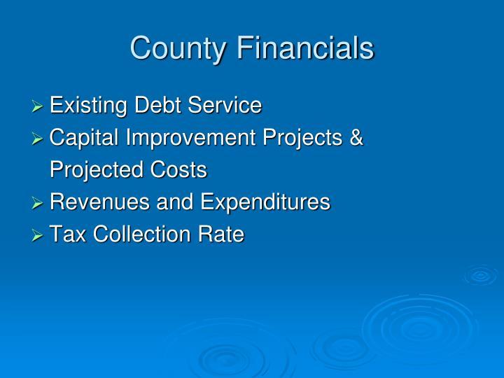 County Financials