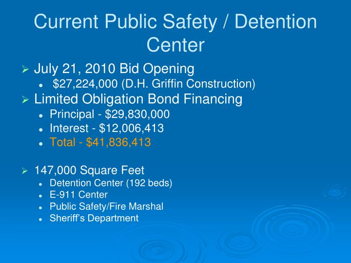 Current Public Safety / Detention