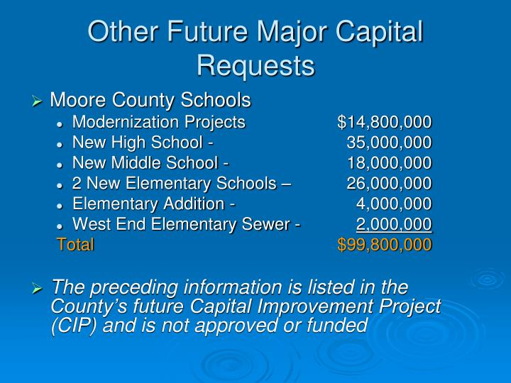 Other Future Major Capital Requests