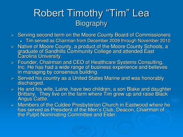 "Robert Timothy ""Tim"" Lea"