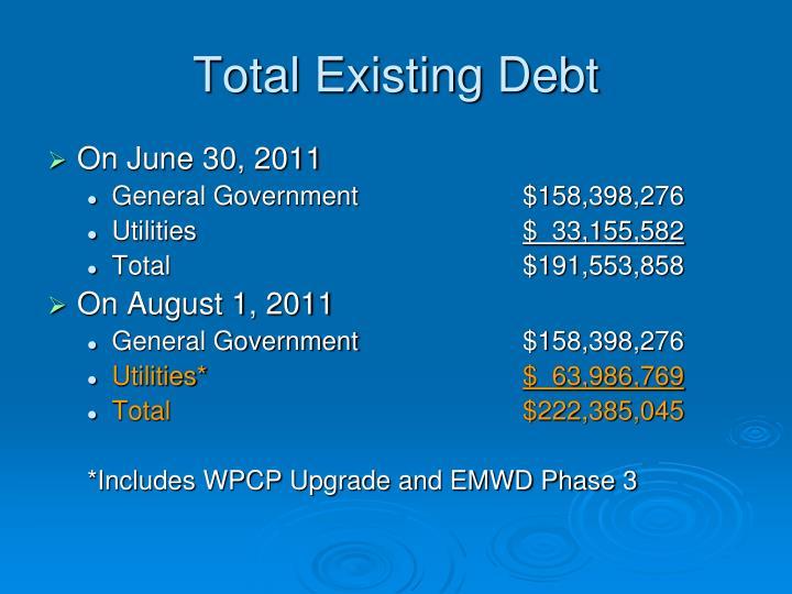 Total Existing Debt