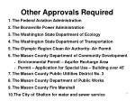 other approvals required