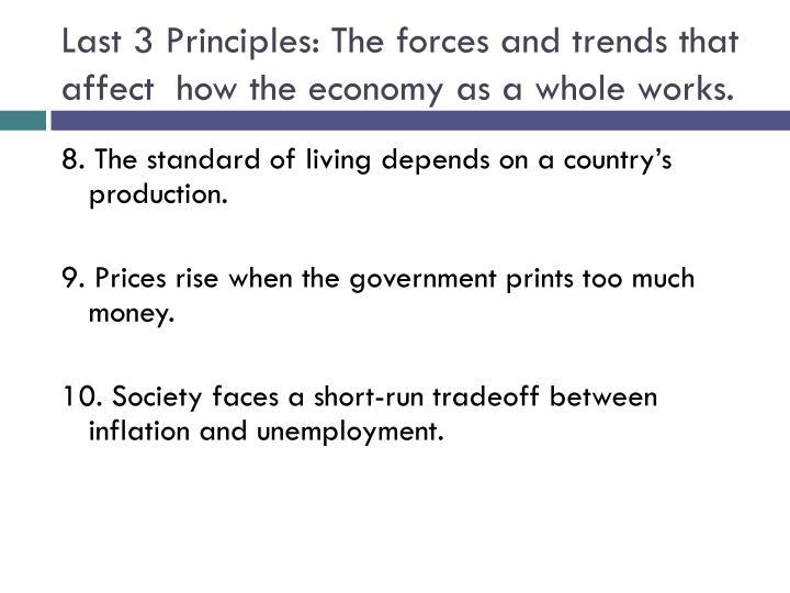 Last 3 Principles: