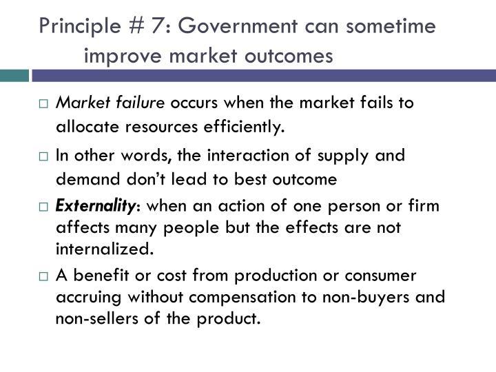 Principle # 7: Government
