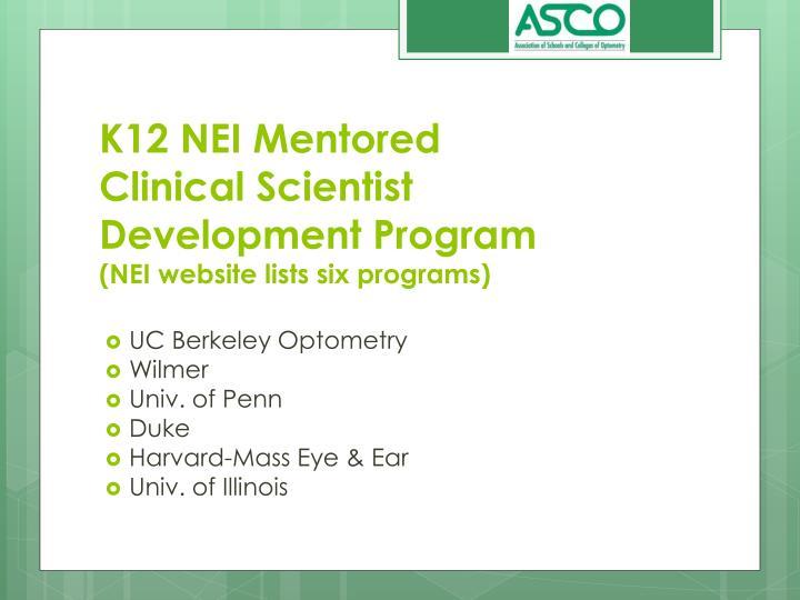 K12 NEI Mentored