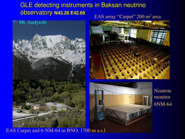 GLE detecting instruments in Baksan neutrino observatory