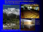 gle detecting instruments in baksan neutrino observatory n43 28 e42 69