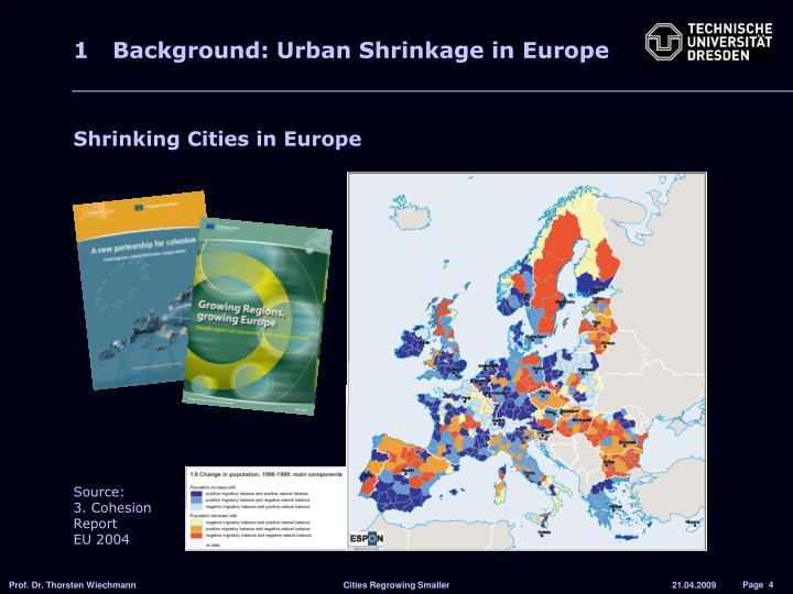 1 Background: Urban Shrinkage in Europe