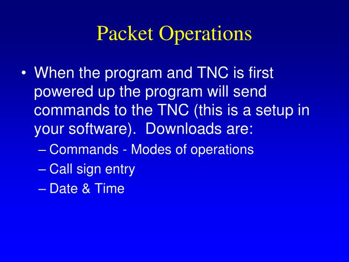 Packet Operations