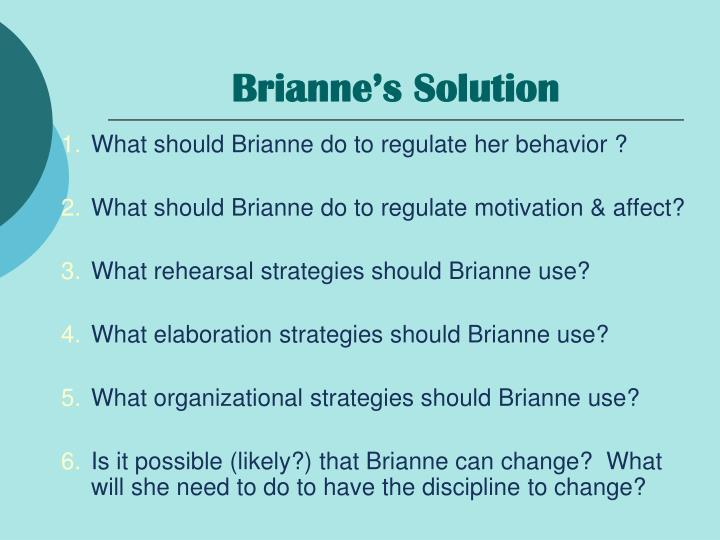 Brianne's Solution