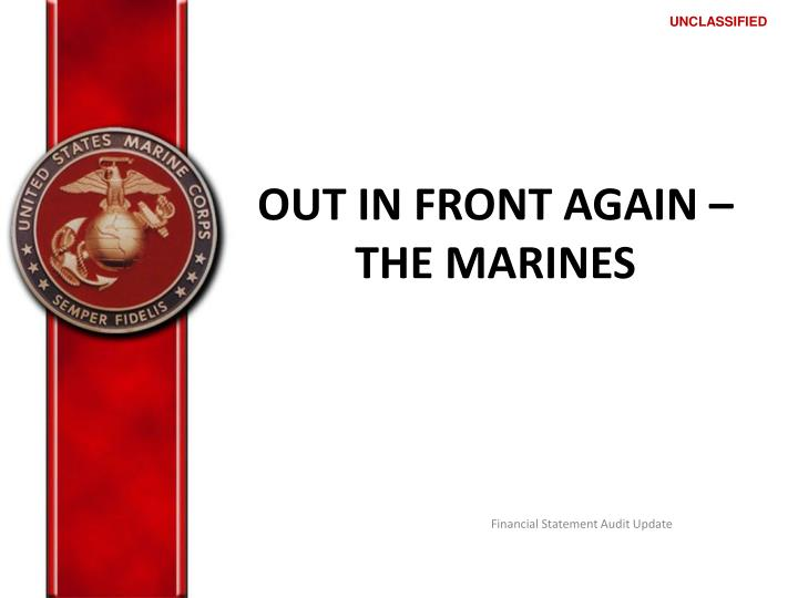 out in front again the marines