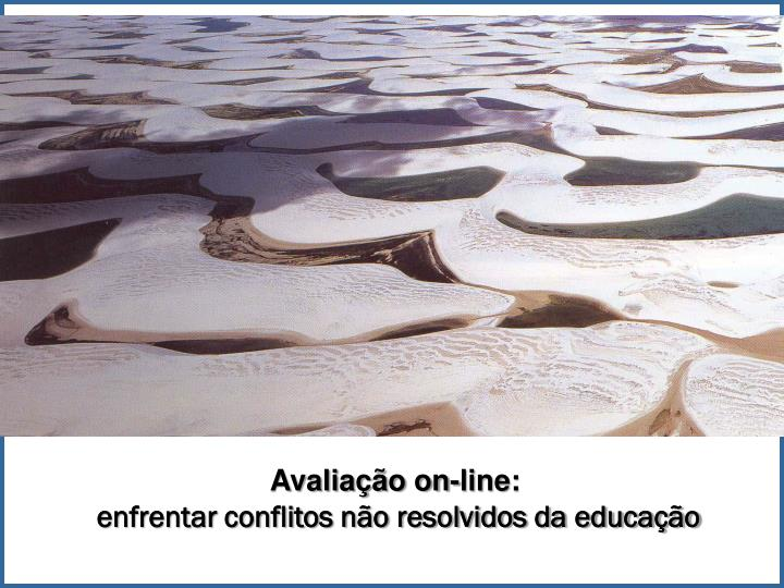 Avaliação on-line: