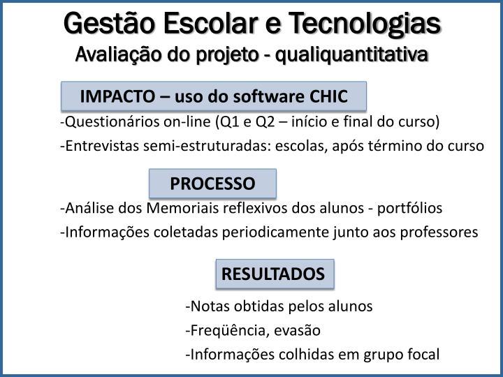 Gestão Escolar e Tecnologias