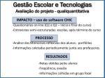 gest o escolar e tecnologias avalia o do projeto qualiquantitativa