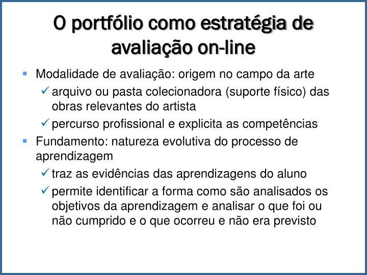 O portfólio como estratégia de avaliação on-line