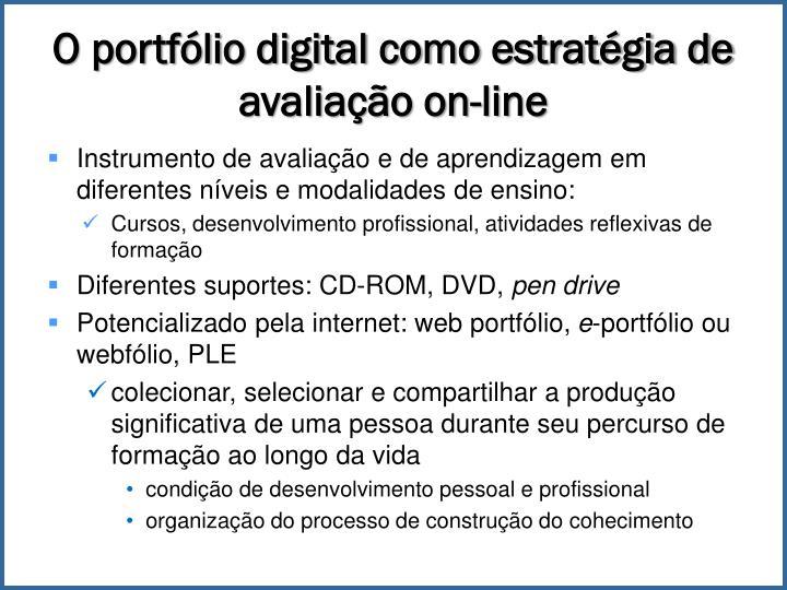 O portfólio digital como estratégia de avaliação on-line