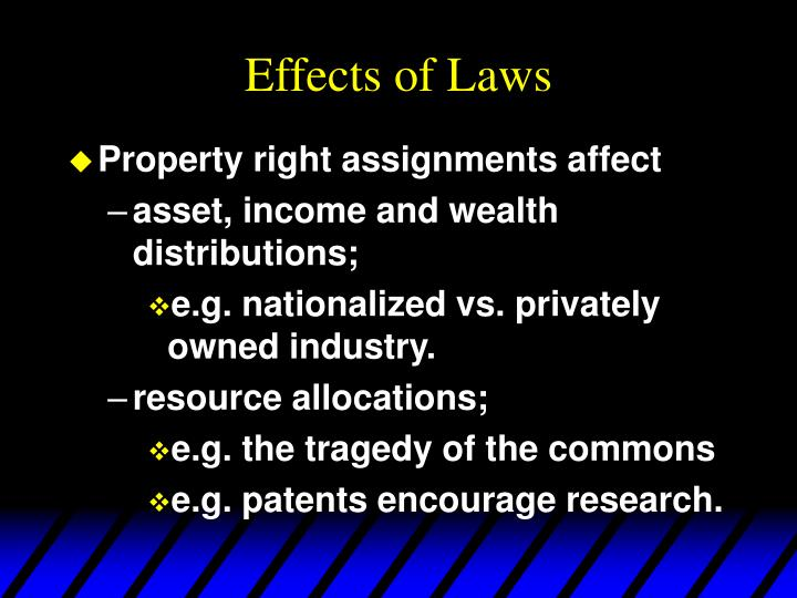 Effects of laws1