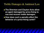 treble damages antitrust law