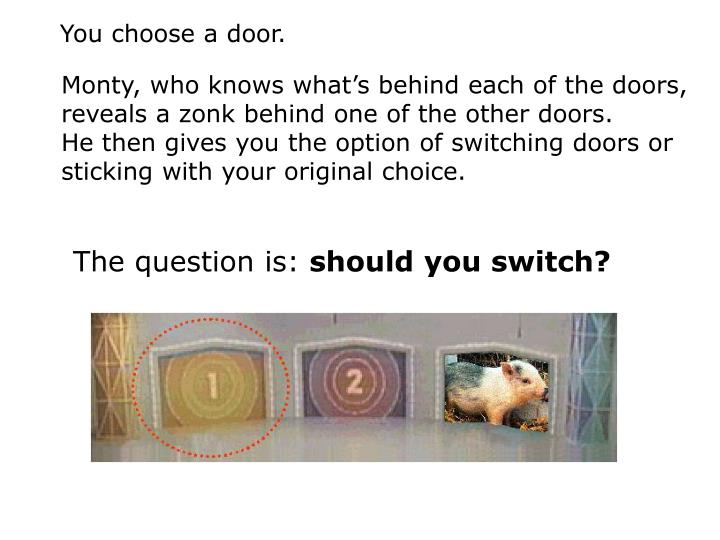 You choose a door.