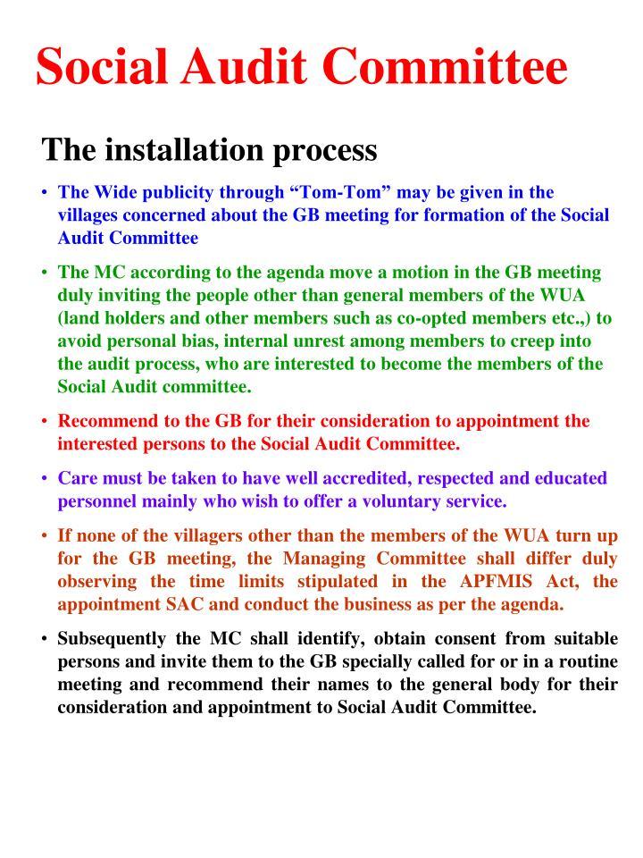 Social Audit Committee