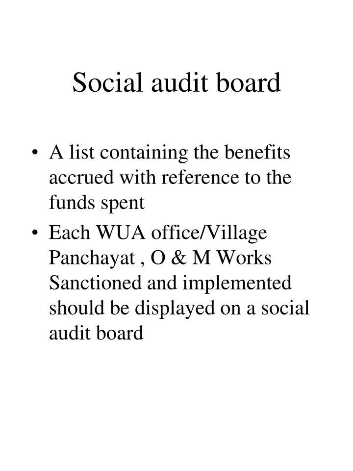 Social audit board