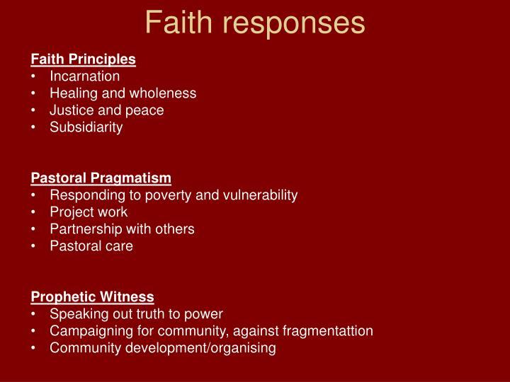 Faith responses