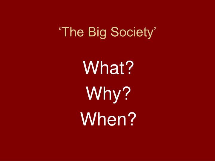 'The Big Society'