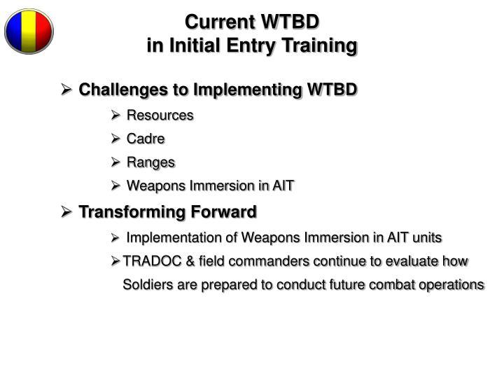 Current WTBD