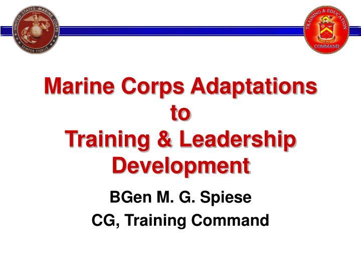 Marine Corps Adaptations to