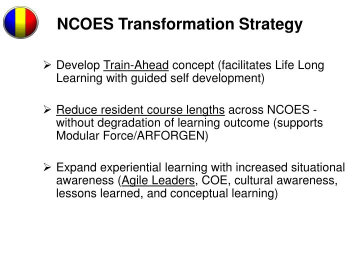 NCOES Transformation Strategy