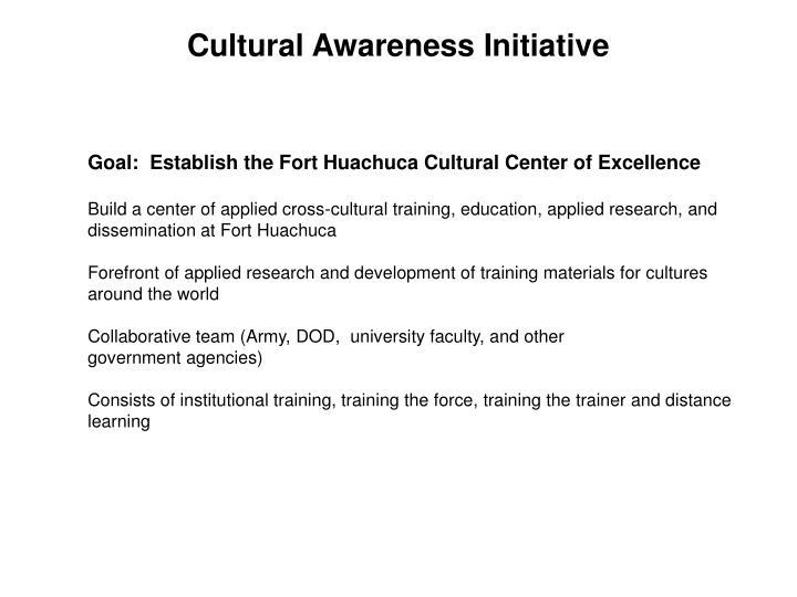 Cultural Awareness Initiative