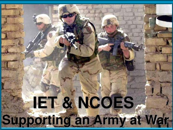IET & NCOES