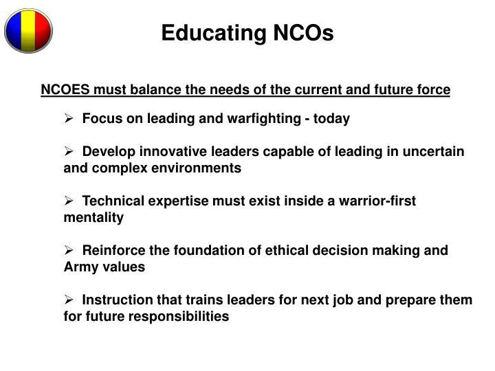 Educating NCOs