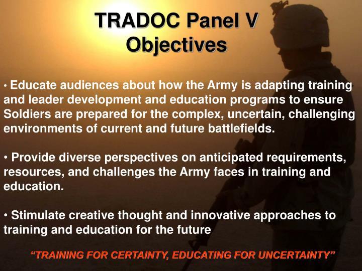 TRADOC Panel V