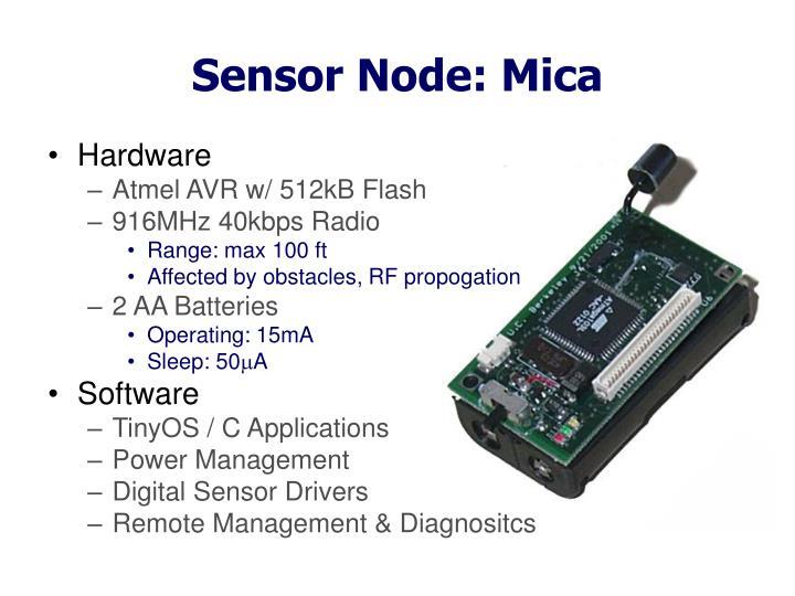 Sensor Node: Mica