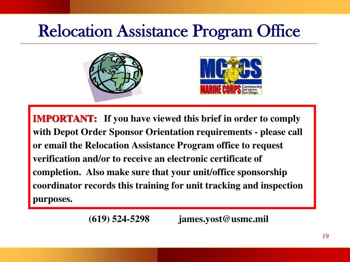 Relocation Assistance Program Office
