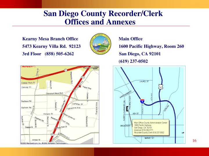 San Diego County Recorder/Clerk