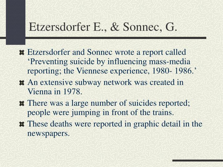 Etzersdorfer E., & Sonnec, G.