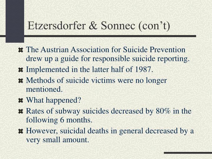 Etzersdorfer & Sonnec (con't)