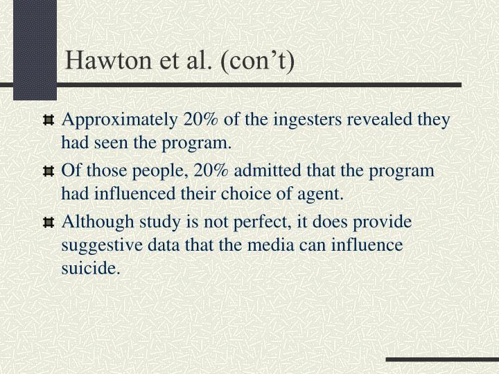 Hawton et al. (con't)